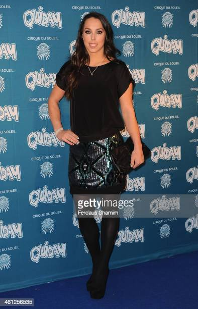 Beth Tweddle attends the VIP night for Cirque Du Soleil Quidam at Royal Albert Hall on January 7 2014 in London England
