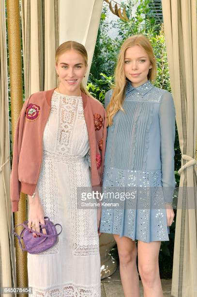 Beth Whitson and Charly Sturm attend NETAPORTER and Dr Barbara Sturm Host PreOscars Lunch in Los Angeles at Chateau Marmont on February 24 2017 in...
