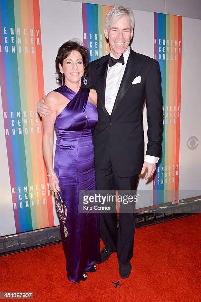 Beth Wilkinson and David Gregory pose on the red carpet during the The 36th Kennedy Center Honors gala at the Kennedy Center on December 8 2013 in...