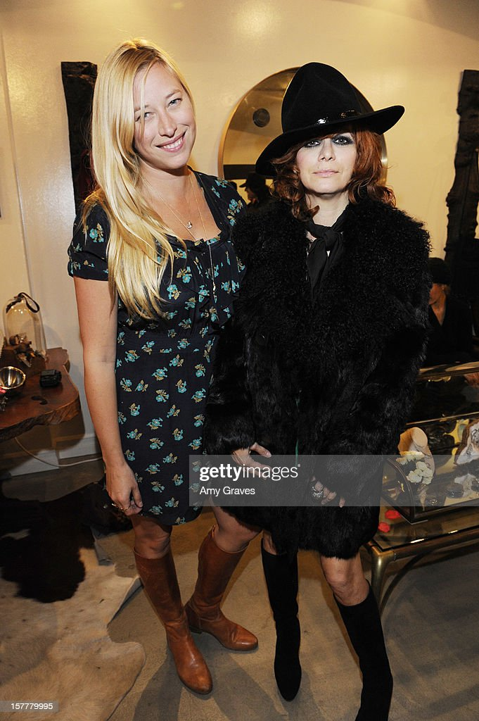 Beth Yorn and Linda Ramone attend Beth Yorn's Jewelry Show at Roseark on December 5, 2012 in West Hollywood, California.
