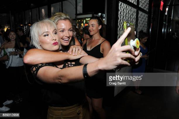 Bethanie Mattek Sands and Coco Vandeweghe attend the Citi Taste Of Tennis with Coco Vandeweghe and friends at Hakkasan Restaurant New York on August...