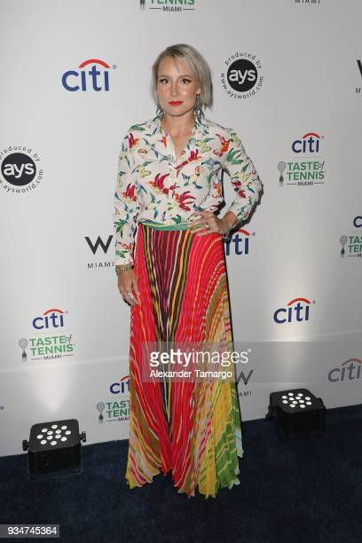 Bethanie Mattek Sands attends the Citi Taste Of Tennis Miami 2018 at W Miami on March 19 2018 in Miami Florida