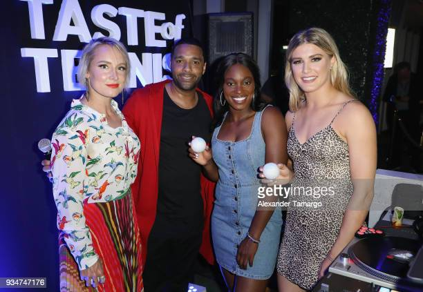 Bethanie Mattek Sands Dj Madlinks Sloane Stephens and Eugenie 'Genie' Bouchard attend the Citi Taste Of Tennis Miami 2018 at W Miami on March 19 2018...