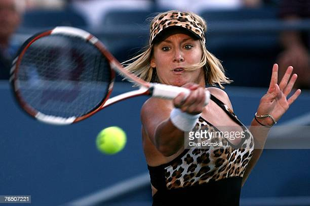 Bethanie Mattek takes part in her Women's Doubles Quarter Finals during day nine of the 2007 US Open at the Billie Jean King National Tennis Center...