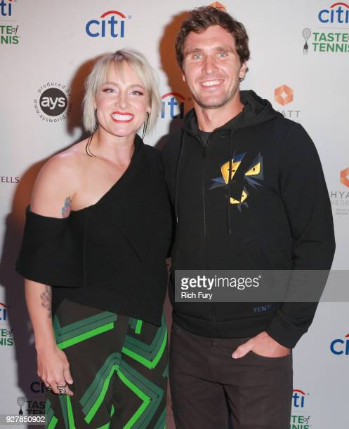 Bethanie MattekSands and Mischa Zverev attend the Citi Taste of Tennis at Hyatt Regency Indian Wells Resort Spa on March 5 2018 in Indian Wells...