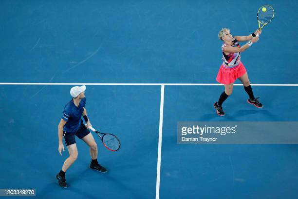 Bethanie MattekSands of the United States and Jamie Murray of Great Britain play in their Mixed Doubles Finals match against Barbora Krejcikova of...