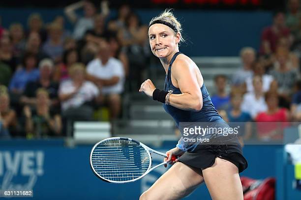 Bethanie MattekSands of the USA celebrates winning the Women's Doubles Final with Sania Mirza of India against Ekaterina Makarova of Russia and Elena...