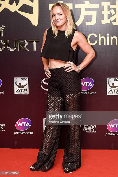 Bethanie MattekSands of United States arrives at the 2016 China Open Player Party at The Birds Nest on October 3 2016 in Beijing China