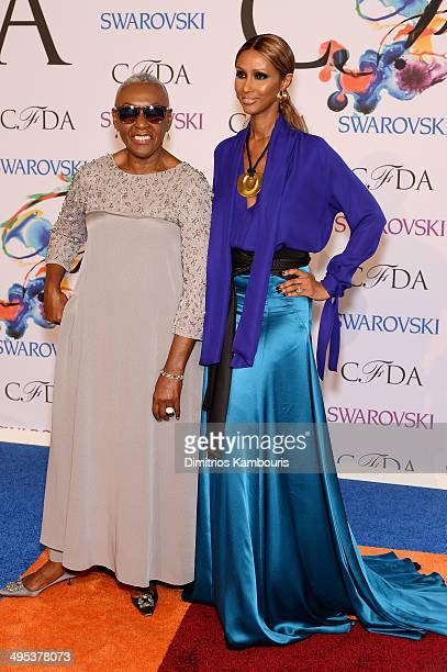 Bethann Hardison and Iman attend the 2014 CFDA fashion awards at Alice Tully Hall Lincoln Center on June 2 2014 in New York City