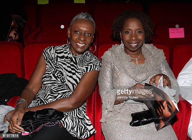 Bethann Hardison and Iyanla Vanzant attend the 4th annual Black Girls Rock awards at The New York Times Center on October 17 2009 in New York City