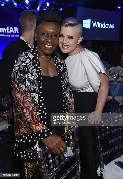 Bethann Hardison and Kelly Osbourne attends the 7th Annual amfAR Inspiration Gala at Skylight at Moynihan Station on June 9 2016 in New York City