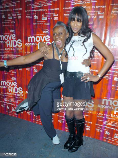 Bethann Hardison and Naomi Campbell during Move Against AIDS December 3 2005 at Manhattan Center in New York City New York United States