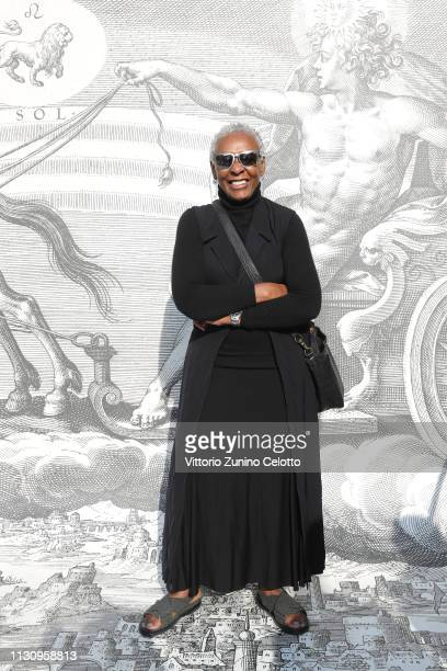 Bethann Hardison arrives at the Gucci show during Milan Fashion Week Autumn/Winter 2019/20 on February 20 2019 in Milan Italy