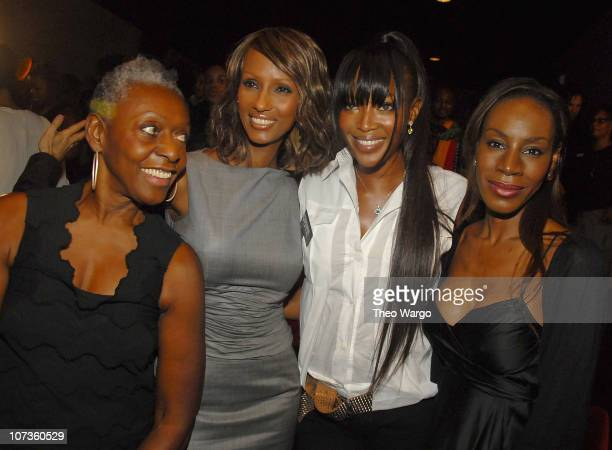 Bethann Hardison Iman and Naomi Campbell at Blacks in Fashion A Panel Discussion on the Lack of Black Images in Today's Fashion Output at The Bryant...