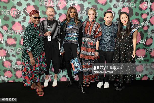 Bethann Hardison JeanPaul Goude Iman Chloe Sevigny Humberto Leon and Carol Lim attend KENZO x HM Launch Event Directed By JeanPaul Goude' at Pier 36...
