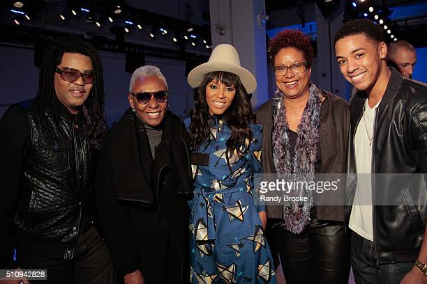 Bethann Hardison, June Ambrose, Harriet Cole and Justiin Davis attend the Xuly Bet Front Row & Backstage during Fall 2016 New York Fashion Week: The...