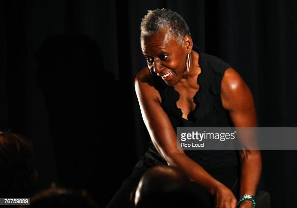 Bethann Hardison moderates at the Blacks In Fashion panel discussion at the Bryant Parl Hotel on September 14 2007 in New York City
