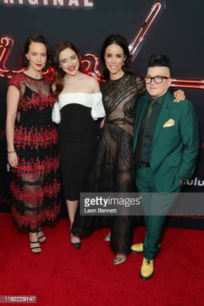 Bethany Anne Lind Madison Davenport Abigail Spencer and Lea DeLaria attend the premiere of Hulu's Reprisal Season One at ArcLight Cinemas on December...
