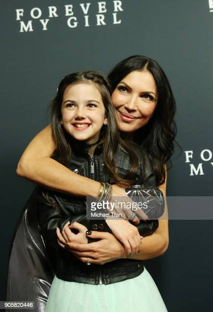 Bethany Ashton Wolf and Abby Ryder Fortson arrive to the Los Angeles premiere of Roadside Attractions' 'Forever My Girl' held at The London on...