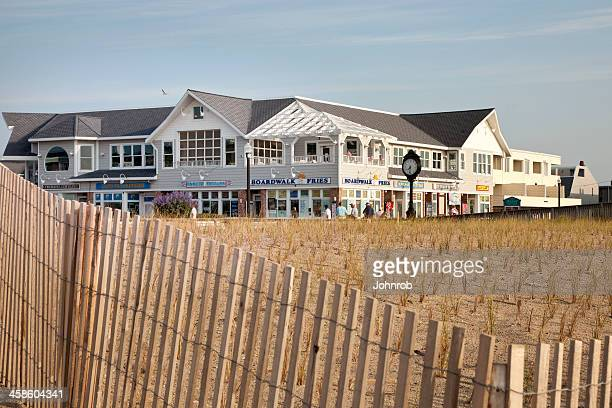 bethany beach boardwalk - bethany beach stock photos and pictures