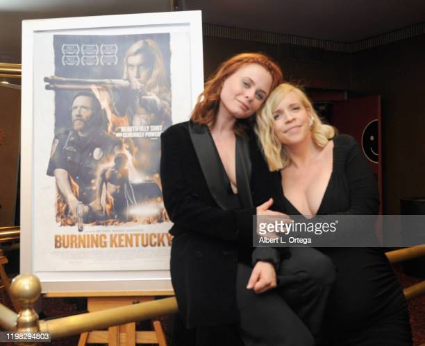 Bethany Brooke Anderson and Augie Duke attend the Premiere Of Burning Kentucky held at Fine Arts Theatre on February 2 2020 in Beverly Hills...