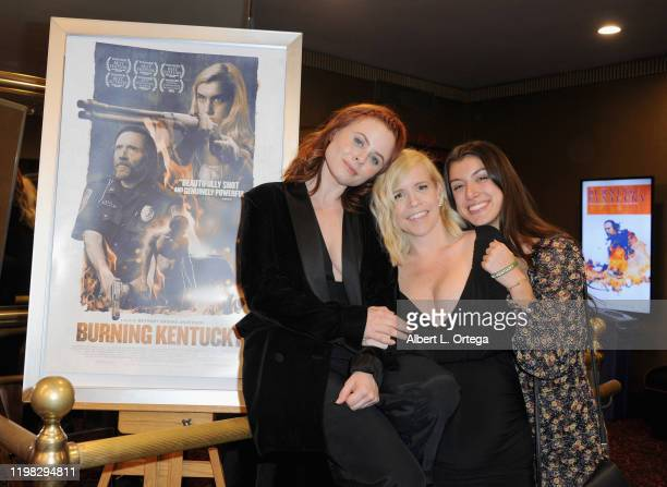 Bethany Brooke Anderson Augie Duke and Emilie Dhir attend the Premiere Of Burning Kentucky held at Fine Arts Theatre on February 2 2020 in Beverly...