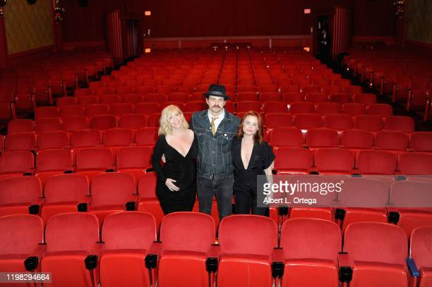 Bethany Brooke Anderson Nathan Sutton and Augie Duke attend the Premiere Of Burning Kentucky held at Fine Arts Theatre on February 2 2020 in Beverly...