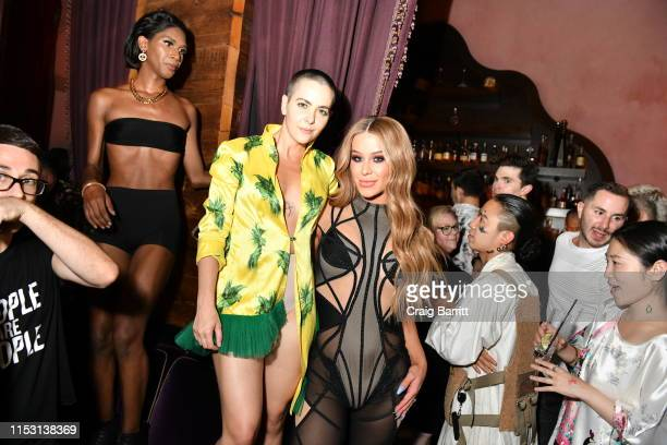 Bethany C Meyers and Gigi Gorgeous attend Rose Bar Pride Party hosted by Christian Siriano Bethany C Meyers and Nico Tortorella at Rose Bar at...