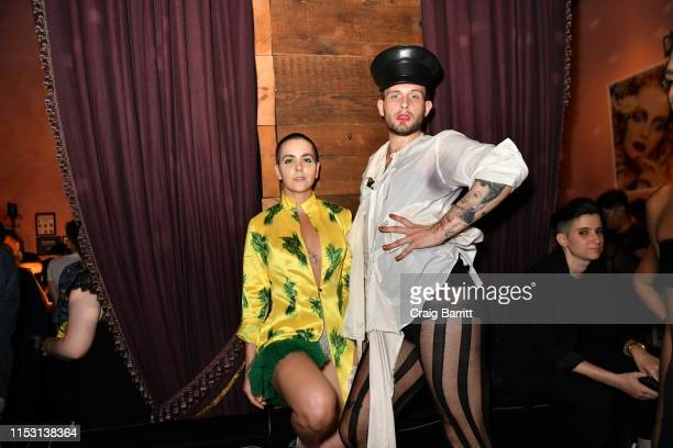 Bethany C Meyers and Nico Tortorella attend Rose Bar Pride Party hosted by Christian Siriano Bethany C Meyers and Nico Tortorella at Rose Bar at...