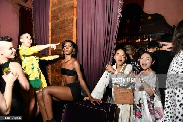 Bethany C Meyers attends Rose Bar Pride Party hosted by Christian Siriano Bethany C Meyers and Nico Tortorella at Rose Bar at Gramercy Park Hotel on...