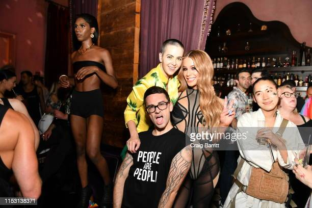 Bethany C Meyers Christian Siriano and Gigi Gorgeous attend Rose Bar Pride Party hosted by Christian Siriano Bethany C Meyers and Nico Tortorella at...