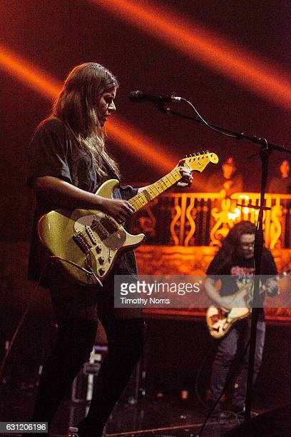Bethany Cosentino and Bobb Bruno of Best Coast perform during The Smell's 19th Anniversary benifit concert at The Belasco Theater on January 7 2017...