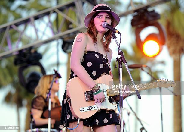 Bethany Cosentino of Best Coast performs as part of the 2011 Coachella Valley Music Arts Festival at the Empire Polo Field on April 17 2011 in Indio...