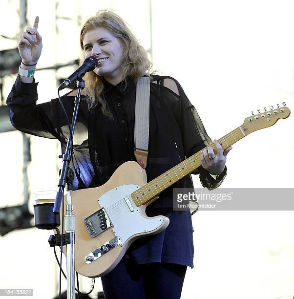 Bethany Cosentino of Best Coast performs as part of the Treasure Island Music Festival on October 14 2012 in San Francisco California