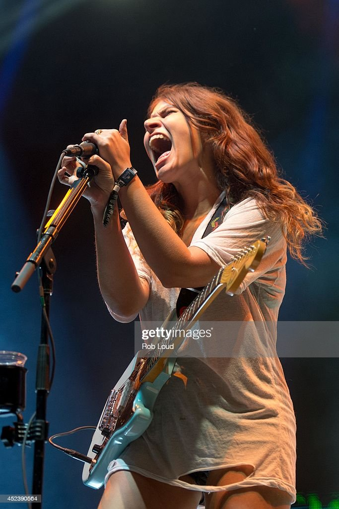 Bethany Cosentino of Best Coast performs at the Pemberton Music Festival on July 18, 2014 in Pemberton, Canada.