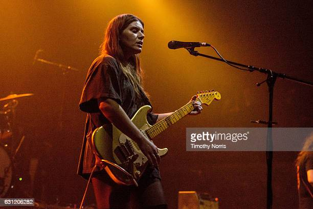 Bethany Cosentino of Best Coast performs during The Smell's 19th Anniversary benifit concert at The Belasco Theater on January 7 2017 in Los Angeles...