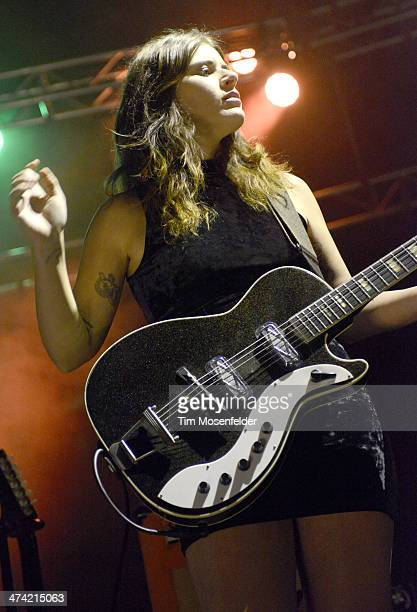 Bethany Cosentino of Best Coast performs in support of the band's Fade Away release at The Fox Theatre on February 21 2014 in Oakland California
