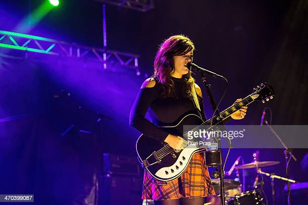 Bethany Cosentino of Best Coast performs live at Paramount Theatre on February 18 2014 in Seattle Washington