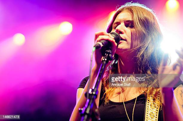 Bethany Cosentino of Best Coast performs on stage at Shepherds Bush Empire on June 20 2012 in London United Kingdom