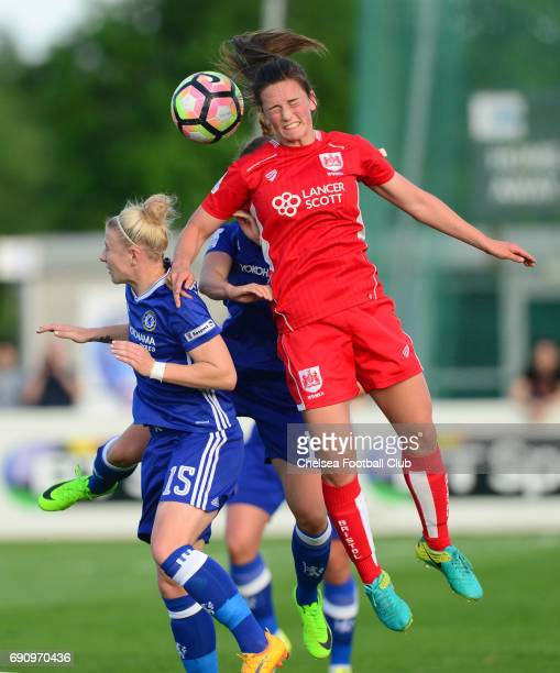 Bethany England of Chelsea during a WSL 1 match between Bristol City Women and Chelsea Ladies at the Stoke Gifford Stadium on May 31 2017 in Bristol...