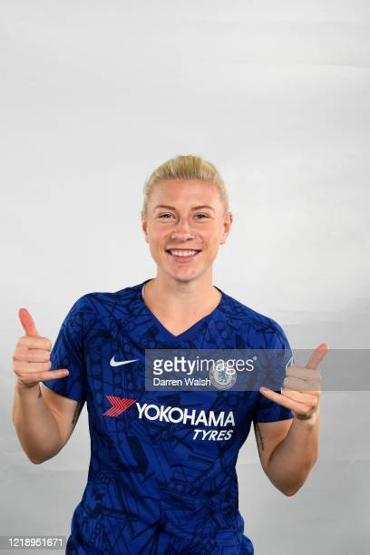 Bethany England of Chelsea during Chelsea Women Social Media Day at Chelsea Training Ground on September 5, 2019 in Cobham, England.