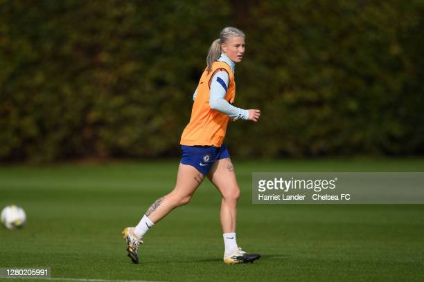 Bethany England of Chelsea in action during a Chelsea FC Women's Training Session at Chelsea Training Ground on October 14 2020 in Cobham England