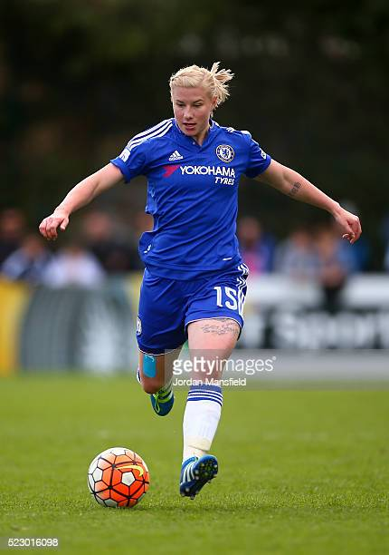 Bethany England of Chelsea in action during the SSE Women's FA Cup Semifinal match between Chelsea Ladies FC v Manchester City Women at Wheatsheaf...