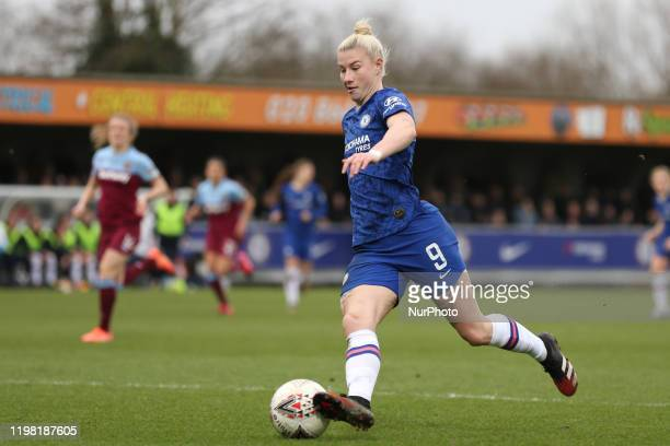 Bethany England of Chelsea Women during the Barclays FA Women's Super League match between Chelsea and West Ham United at the Kingsmeadow Kingston on...