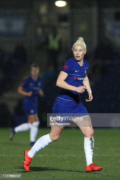 Bethany England of Chelsea Women runs during the FA Continental Tyres Cup Semi Final between Chelsea Women and Manchester City Women at The Cherry...