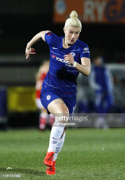Bethany England of Chelsea Women runs with ball during the FA Women's Super League match between Chelsea Women and Bristol City Women at Kingsmeadow...