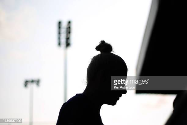 Bethany England of Chelsea Women signs autographs for fans following the WSL match between Chelsea Women and West Ham United Women at Kingsmeadow on...