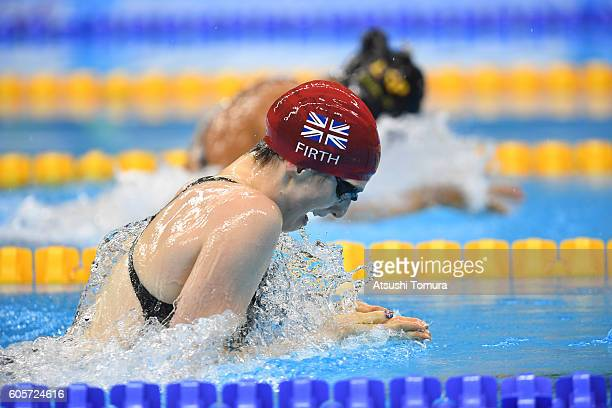 Bethany Firth of Great Britain competes at the Womens 100m Breaststroke SB14 Final during day 7 of the Rio 2016 Paralympic Games at the Olympic...