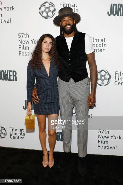 Bethany Gerber and DeAndre Jordan attend a New York screening of Joker during the 57th annual New York Film Festival at Alice Tully Hall Lincoln...