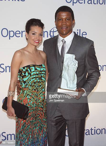 Bethany Hotchkiss and honoree Sharif Atkins attend the Operation Smile's Smile Event at Cipriani Wall Street on May 1 2014 in New York City